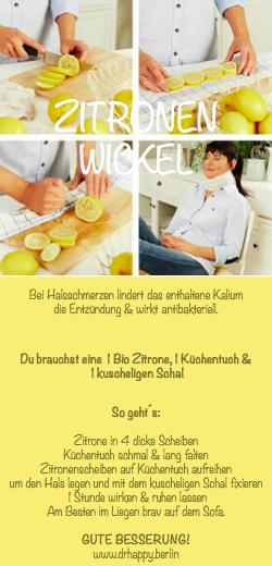 Heilsame Zitronenwickel gegen trockenen Husten