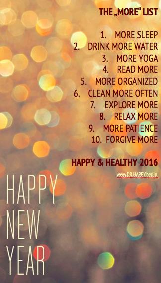 Glücklich & Gesund in ein neues Jahr